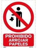 Señal A4 PVC obligatorio el uso de casco O8