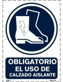 Señal A4 PVC obligatorio el uso de protector fijo O48