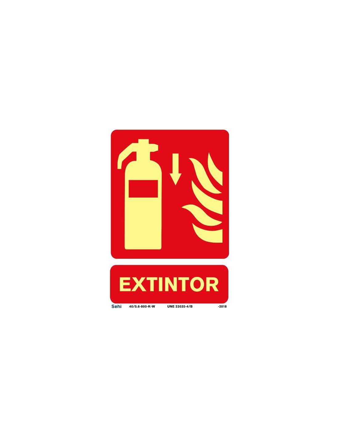 Señal A4 luminiscente PVC boca de incendio L355